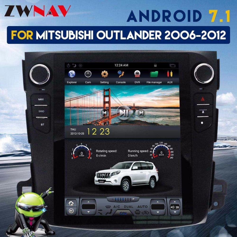 ZWNVA Tesla IPS Bildschirm Android 7.1 Auto GPS Navigation Radio Für Mitsubishi Outlander Citroen C-Crosser Peugeot 4007 Keine CD player