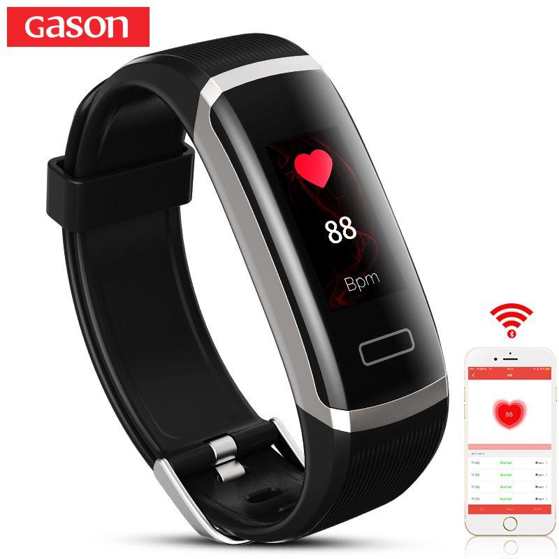 GASON B1 Smart Wristband Cicret band Watch Heart <font><b>rate</b></font> monitor Smartband Pulsometer Sport health Fitness Bracelet tracker for IOS