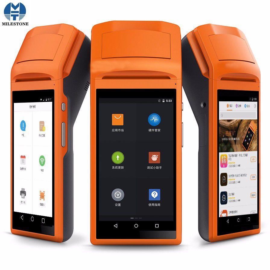 POS Thermodrucker Handterminal Pos Systerm Drucker Bluetooth 58mm Thermische Kommerziellen Android 5.1 3G Mobile MHT-V1