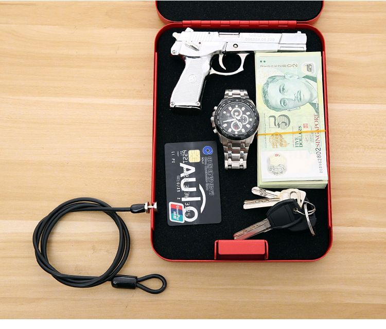 2017 Cash jewelry box Portable Car safes Pistol boxes safes Passwords type Key type Birthday Gifts New Year Gifts For Valuables