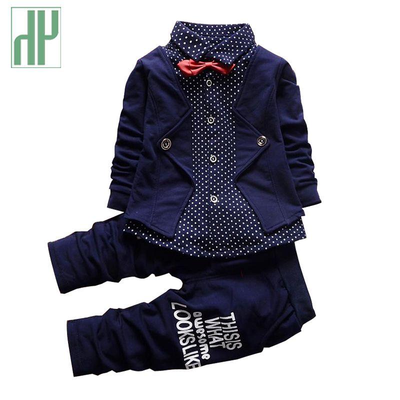 Baby boy clothing formal kids clothes suit polka dot boy gentleman Bow Tie toddler boys clothes set birthday dress school wear