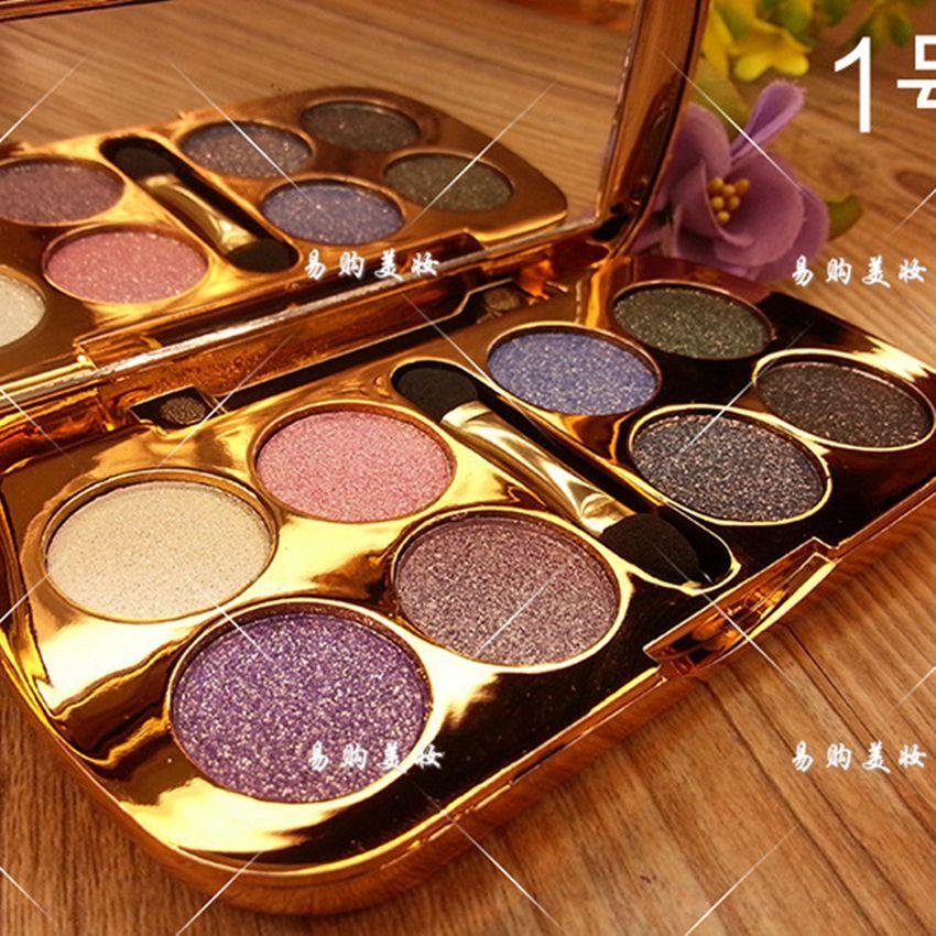 8 Couleurs NOUVEAU Diamant Lumineux Maquillage Fard À Paupières Palette Maquillage Eye Shadow Professional Maquillage Fards À Paupières Cosmétique Avec Brosse