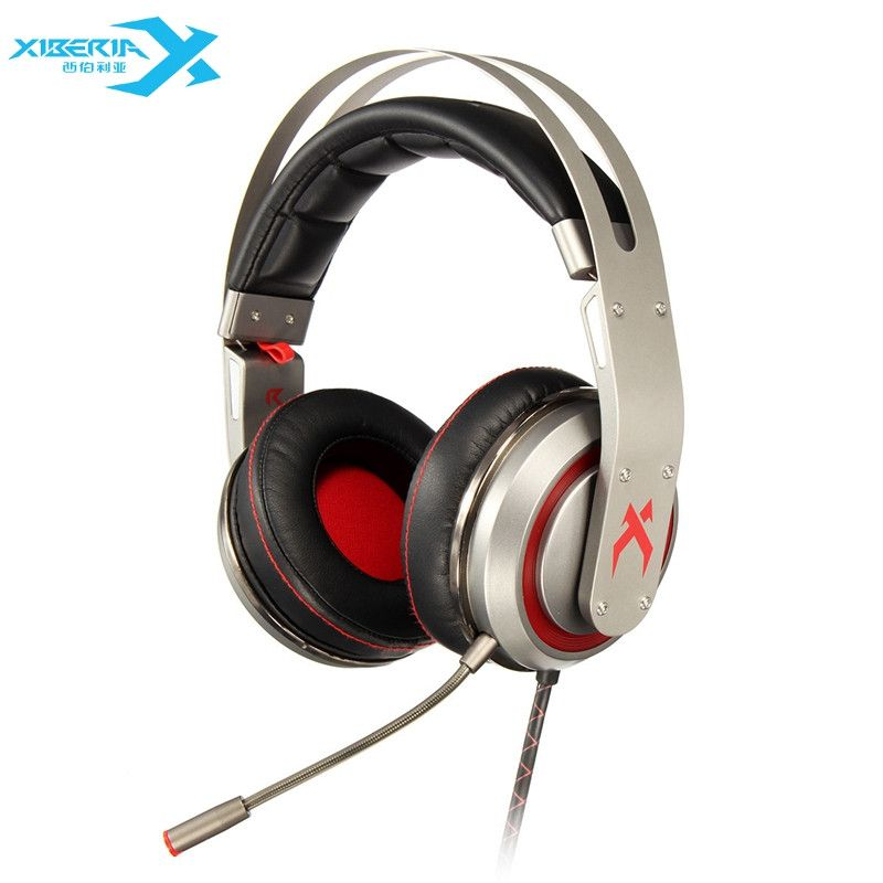 XIBERIA T19 USB 7.1 Vibration Gaming Headphones With Microphone Deep Bass LED Light Gaming Headband Headsets For PC Gamer