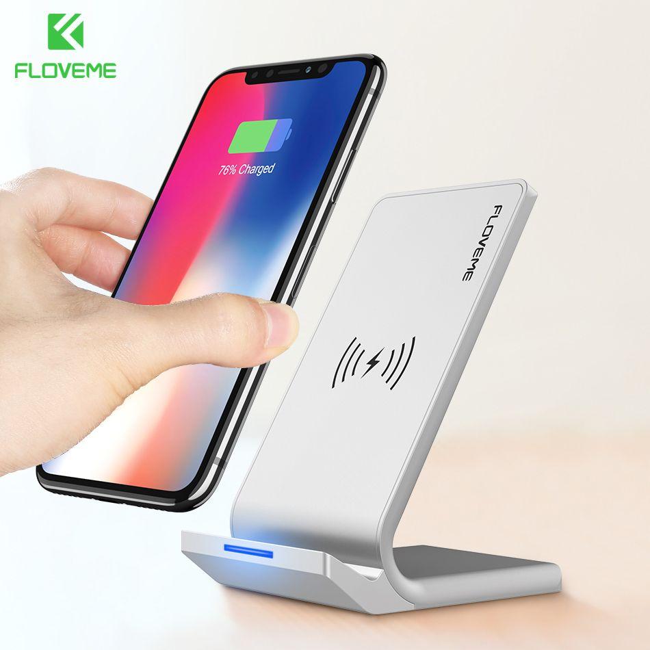 FLOVEME Universel Qi Rapide Sans Fil Chargeur Pour iPhone X 10 8 Plus chargeur USB 10 W Puissance De Charge Pour Samsung Galaxy S8 S9 Note 8