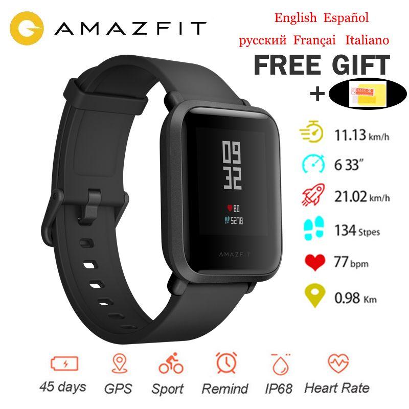 Version internationale originale Xiaomi Amazfit Bip montre intelligente Huami GPS Smartwatch Android iOS 45 jours batterie IP68