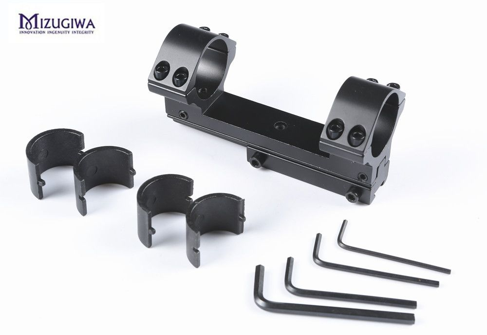 1pc Elevation and Windage Adjustable Scope Mount 11mm picatinny Rail 30mm / 25.4mm High Profile Dovetail Rings For Air Gun Scope