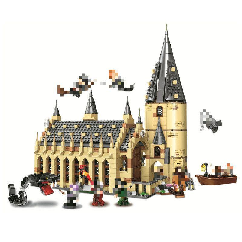 2018 New 16052 983pcs Harri Potter series Hogwarts Great Hall Building Blocks Brick Educational Toys Compatible Legoing 75954