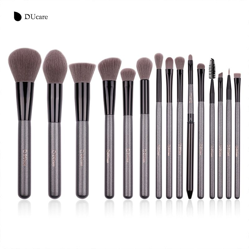 DUcare 15PCS Make up Brushes Soft Synthetic Hair Cosmetic Brand Makeup Brushes Set Powder Foundation Eyeshadow Make Up Brush