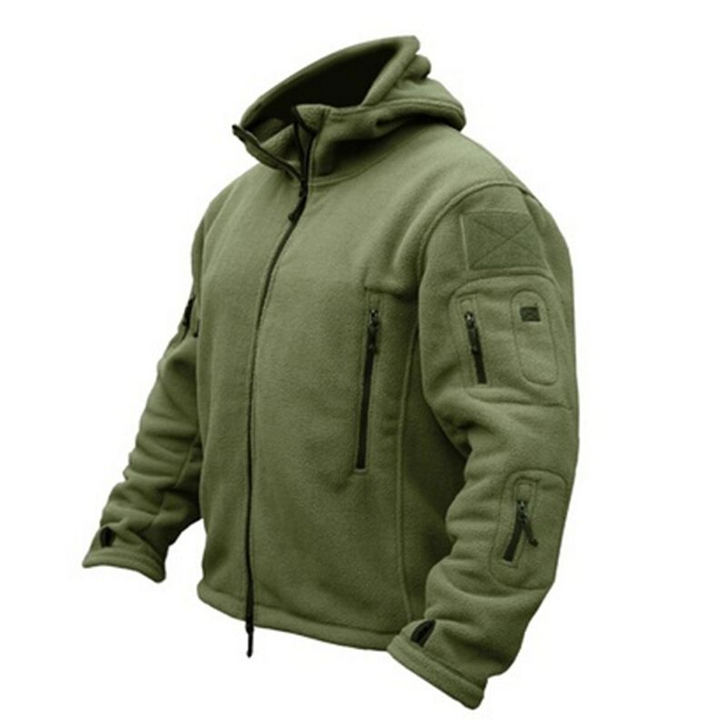 Man Fleece Tactical Softshell Jacket Outdoor Thermal Sport Hiking Polar Hooded Coat Outerwear Army Clothes Outdoor Cloth 907282