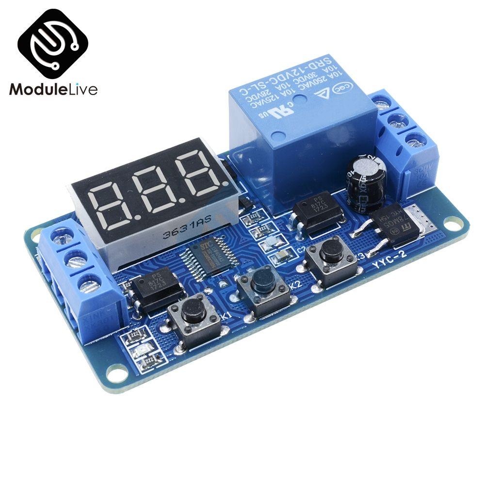 DC 12 v LED Digital display Home Automation Verzögerung Relais Trigger Zeit Schaltung Timer Control Zyklus Einstellbar Schalter Relais Modul