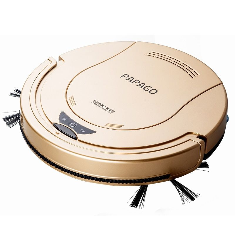 2018 PapaGo Sweeping robot aspirateur robot Household Automatic intelligent vacuum cleaner One machine Slim planning Mopping rob