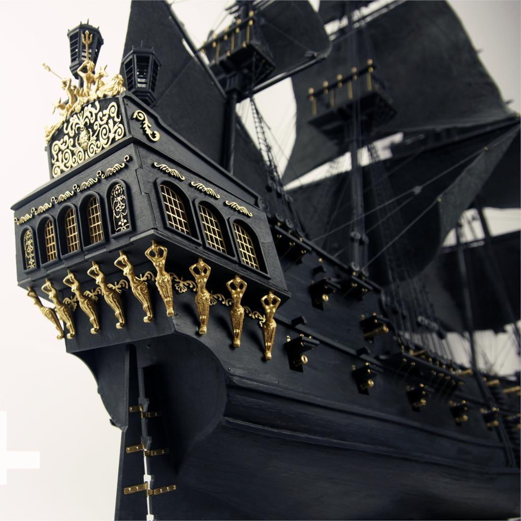 2015 schwarz Perle segelschiff 1/35 in Fluch der Karibik holz modellbau kit