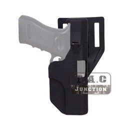 Taktis Cepat Isi Ulang Tangan Kanan Sabuk Pistol Sarung Polimer Hitam Otomatis Sarung untuk Glock 17 18 19 22 23