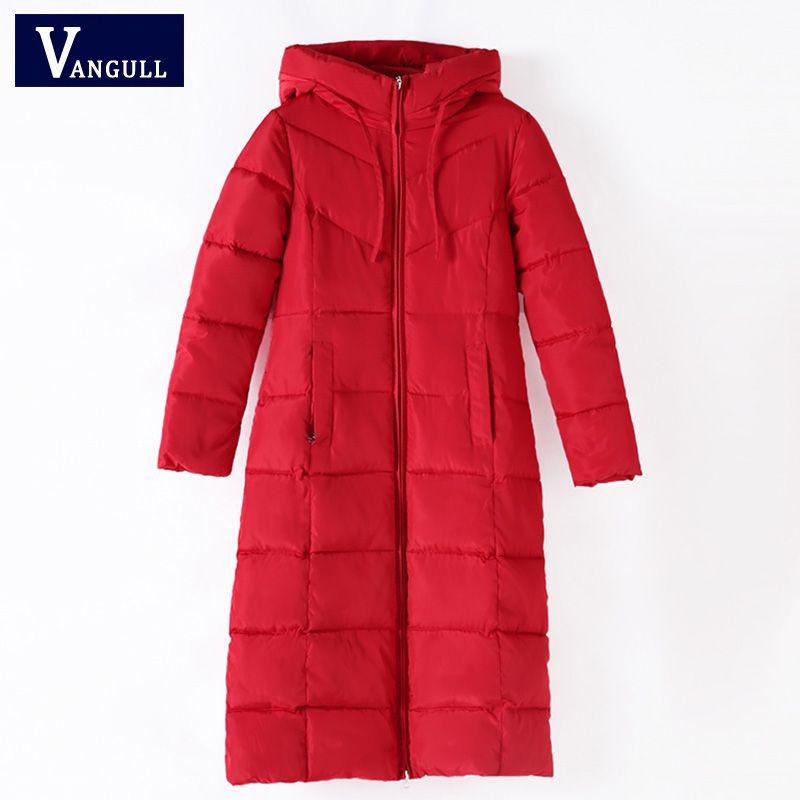 Plus Size 6XL Women Winter Hooded Warm Coat Slim Cotton Padded Basic Jacket Female Medium-long Outwear casaco feminina 2018 New
