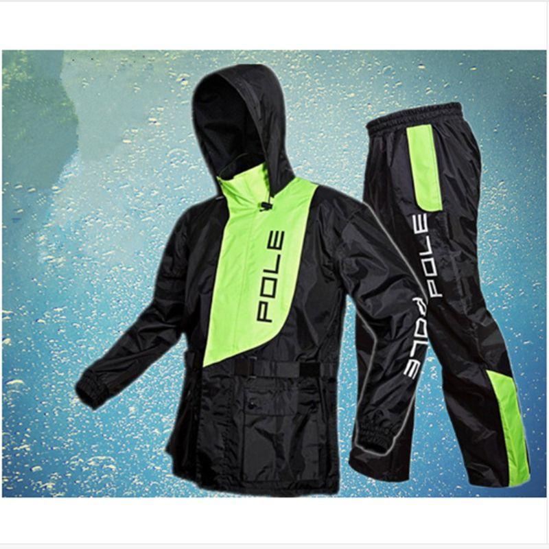 New Fashion Outdoor Sports Angeln Mann und Frau Wasserdichte Regenjacke Anzug Motorrad regen jacke poncho Große Größe regen mantel