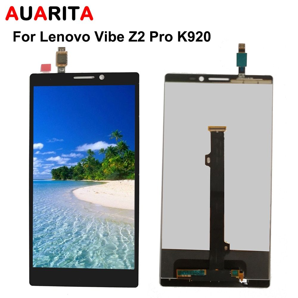 1pcs LCD For Lenovo Vibe Z2 Pro K920 LCD Display + Touch Panel Screen Glass Assembly Replacement Parts +Tools Free shipping