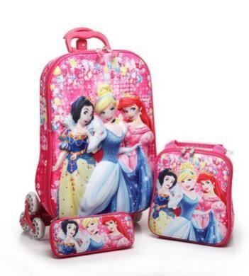 Kids Rolling Case Kid's trolley case Children Travel suitcase School wheeled backpack bag Mochila Kid's Trolley Bags with wheels