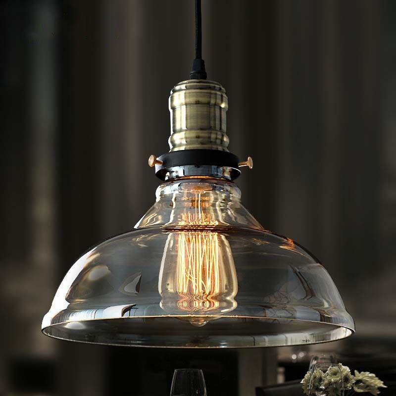 Vintage E27 douille pendentif lumières rétro verre suspension lampe russie Luminaire cuisine salle à manger chambre café Bar suspension lampe
