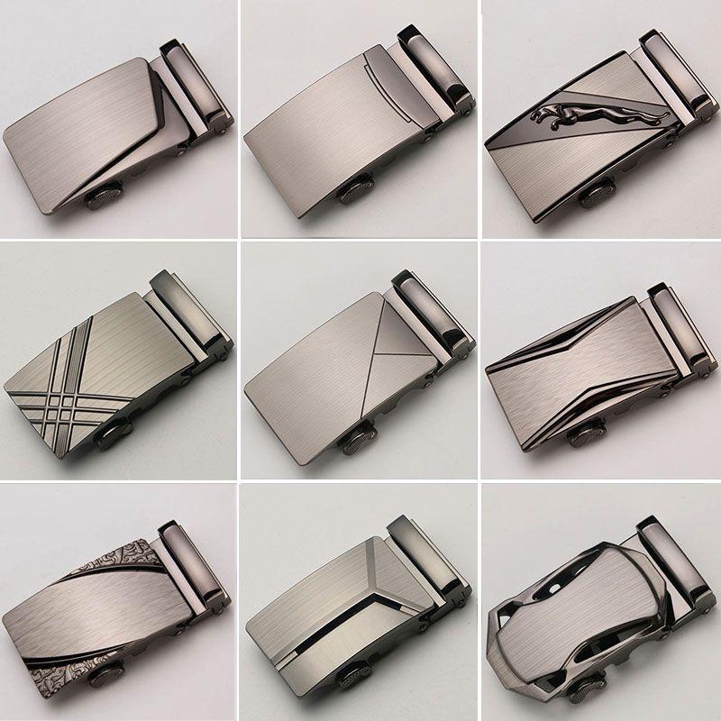 30 Style Automatique Boucle Têtes Pour ceintures automatiques Mens ceinture en cuir Bretelles Hommes ceinture de jean Véritable boucle en cuir Cinto