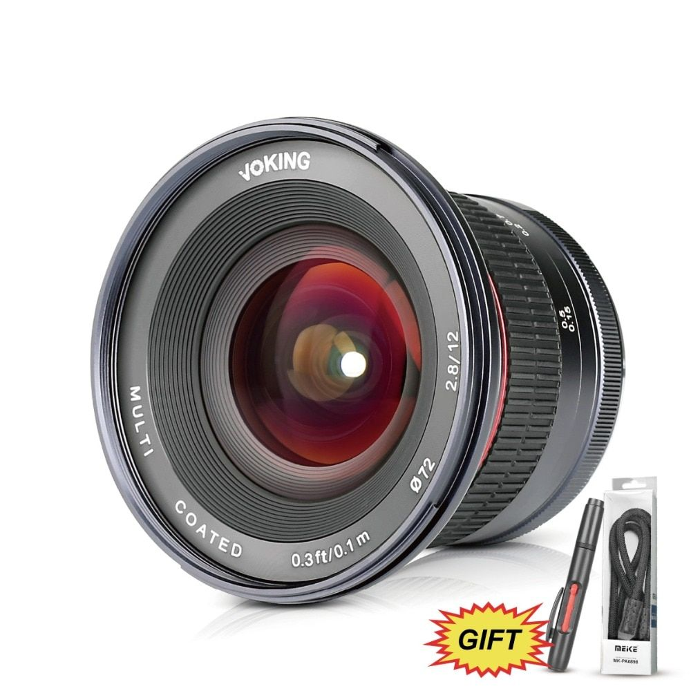 VOKING 12mm f/2,8 Ultra Weitwinkel Feste Linse mit Abnehmbare Haube für Canon EF-M mount kameras