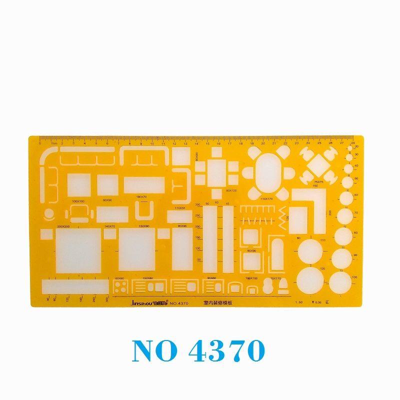 1:50 modèle de dessin de décorateur d'intérieur modèle de conception de meubles architecturaux modèle de dessin de conception d'intérieur pochoir NO 4370