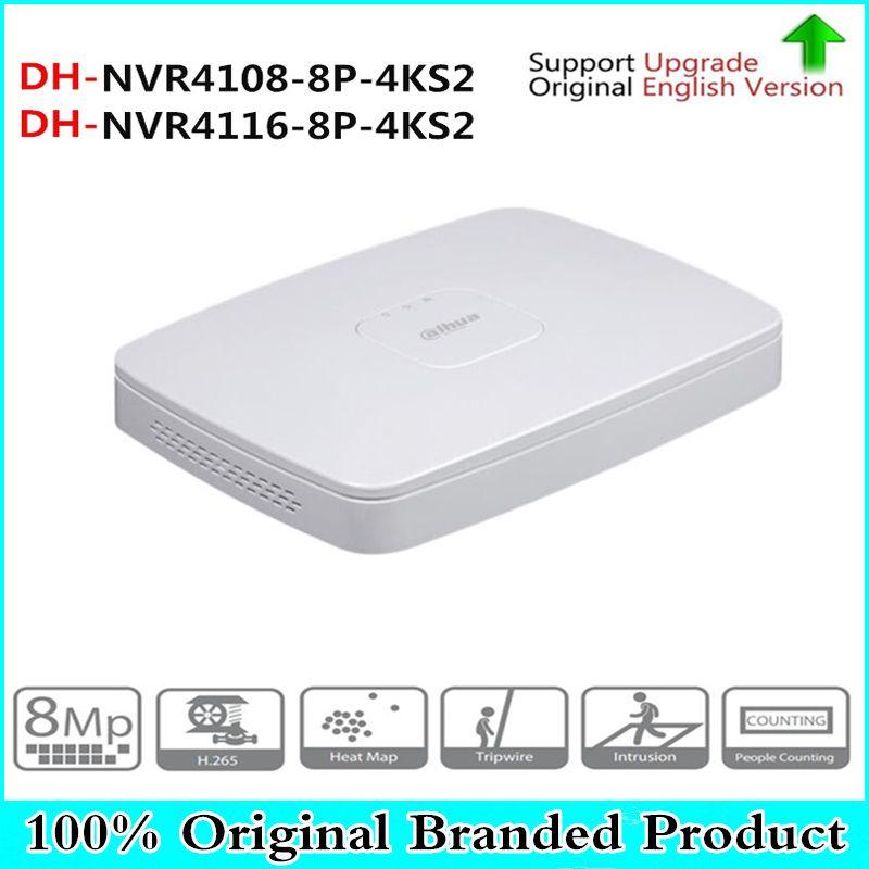 Original DH english version 8/16 Channel 8PoE Smart 1U Lite NVR4108-8P-4KS2 NVR4116-8P-4KS2 replace NVR4108-8P and NVR4116-8P