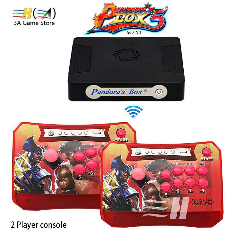 Pandora Box 5 960 in 1 Drahtlose Arcade Stick Controller unterstützung XBOX360 PS3 PC Spiel Arcade Joystick Kampf Spiel Controller kit