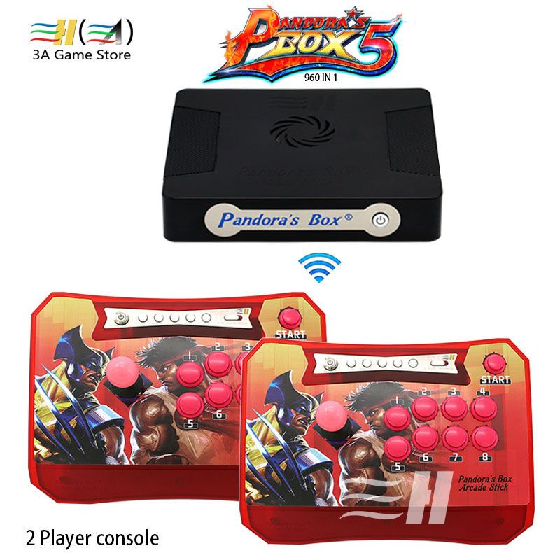 Pandora Box 5 960 in 1 Wireless Arcade Stick Controller Support XBOX360 PS3 PC Game Arcade Joystick Fight Game Controller kit