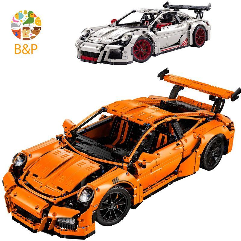 LEPIN DHL Free Shipping 2704PCS 20001 Orange Super Car Model Building Kits Blocks Bricks Toys Compatible With 42056 Gift