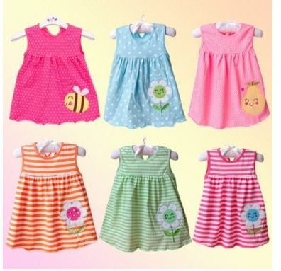 Dresses for Newborn Baby Girls Boutique Clothing Casual Infant Princess Stripe Kids Dresses for Girls Clothes