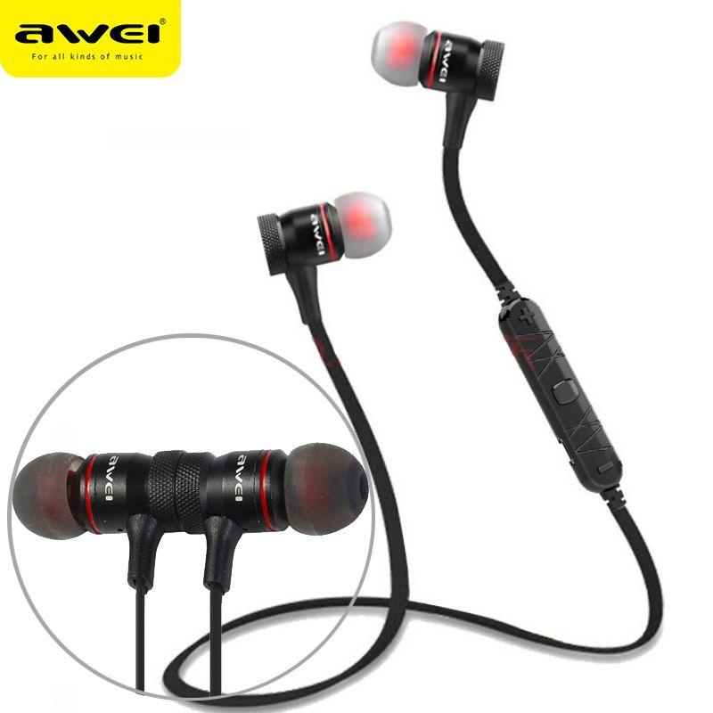 AWEI A920BL casque sans fil Bluetooth écouteur avec micro dans l'oreille sport musique écouteurs Bluetooth 4.1 pour iPhone Samsung Xiaomi