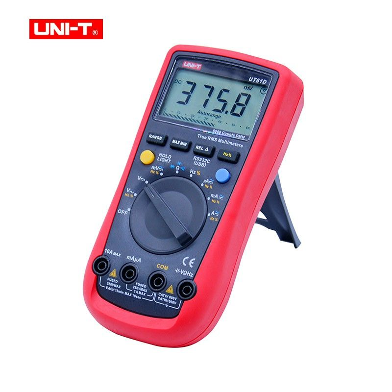 Digital Multimeter UNI-T UT61D True RMS Auto Range 6000 Counts Modern Digital Multimeters ACDC Meter CD Backlight