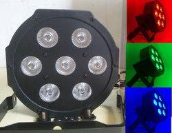 7x12 W LED Plat SlimPar Quad Lumière 4in1 LED DJ Light Wash Étape Uplighting Pas de Bruit