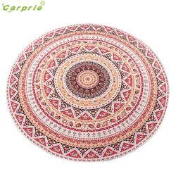 Hot!2017 Fashion Round Hippie Tapestry Beach Throw Roundie Mandala Towel Yoga Mat Bohemian Beautiful gift drop shipping JA03b