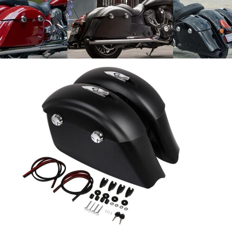 Sattel Taschen Elektronische Latch Deckel Fit Für Indische Häuptling Dark Horse Roadmaster Springfield Drei Farbe motorrad zubehör