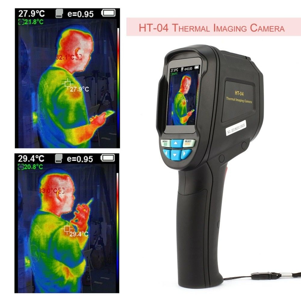 HT-04 Flir Thermal Imaging Camera High Sensitive Sensor HD Color Screen IR Thermal Imager Freeshopping Infrared Imaging Device