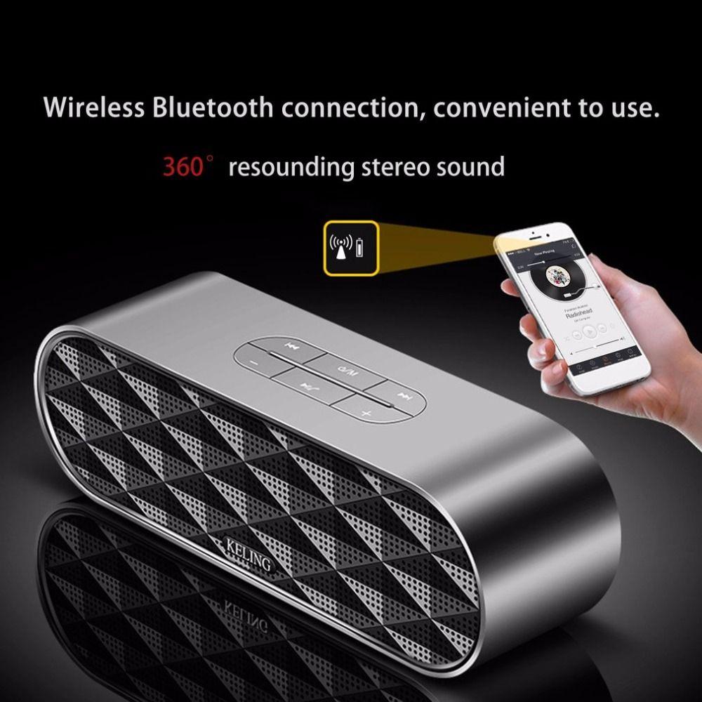 High Quality Bluetooth speaker Portable Wireless Loudspeaker Hi-Fi TF USB Dual Computer Subwoofer For smart phone
