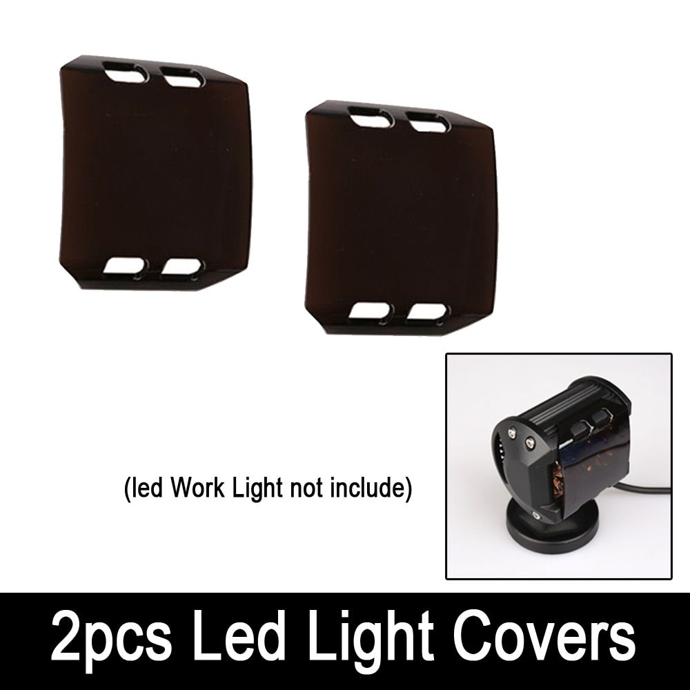 2pcs Brown Black Protective Lens Covers for 4inch 18W Fog Lamp LED WORK LIGHT Bar 4x4 4WD ATV SUV OFFROAD BOAT UTV 36W 72W 126W