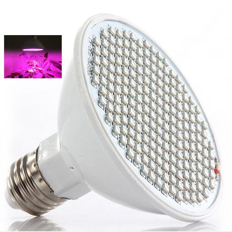 200 LED plante grandir lampe lumière lumières croissantes ampoules système hydroponique pour plantes graines de fleurs légumes intérieur serre E27