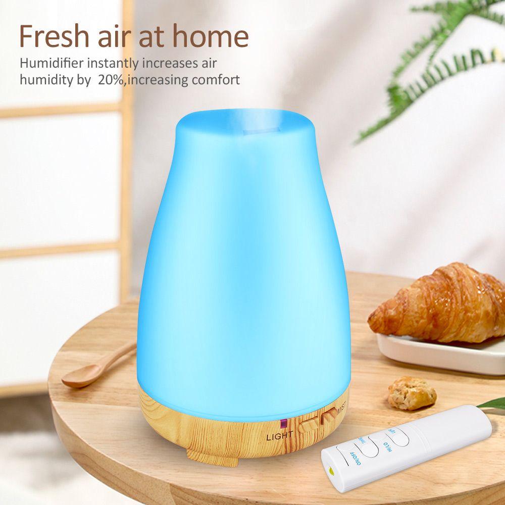 KBAYBO diffuseur d'huile essentielle 200ml arôme huile essentielle Cool brume humidificateur 7 couleurs lumière LED changeant pour maison bureau bébé