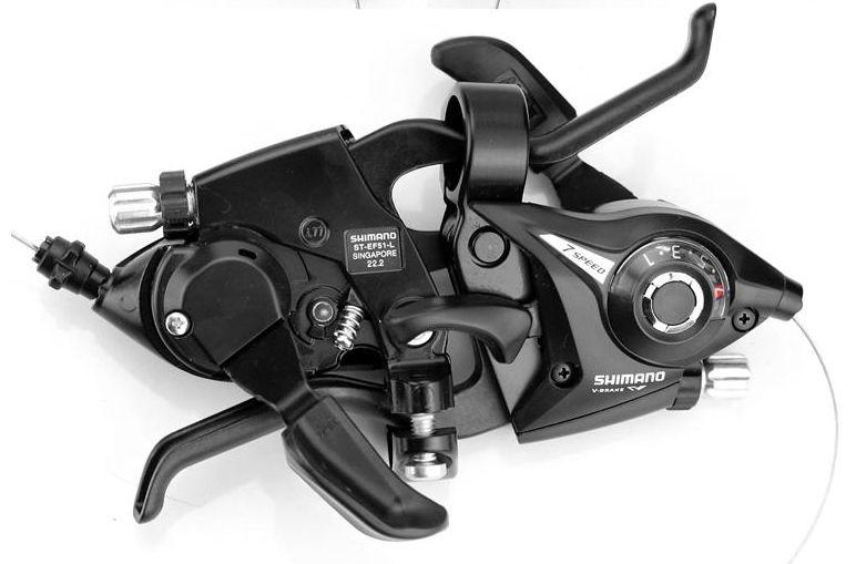 Nouveau vélo frein manettes de vitesse vtt VTT frein à disque manette de vitesse Set cyclisme freins leviers et leviers de changement de vitesse 3x7 3x8s ST-EF51-7 8