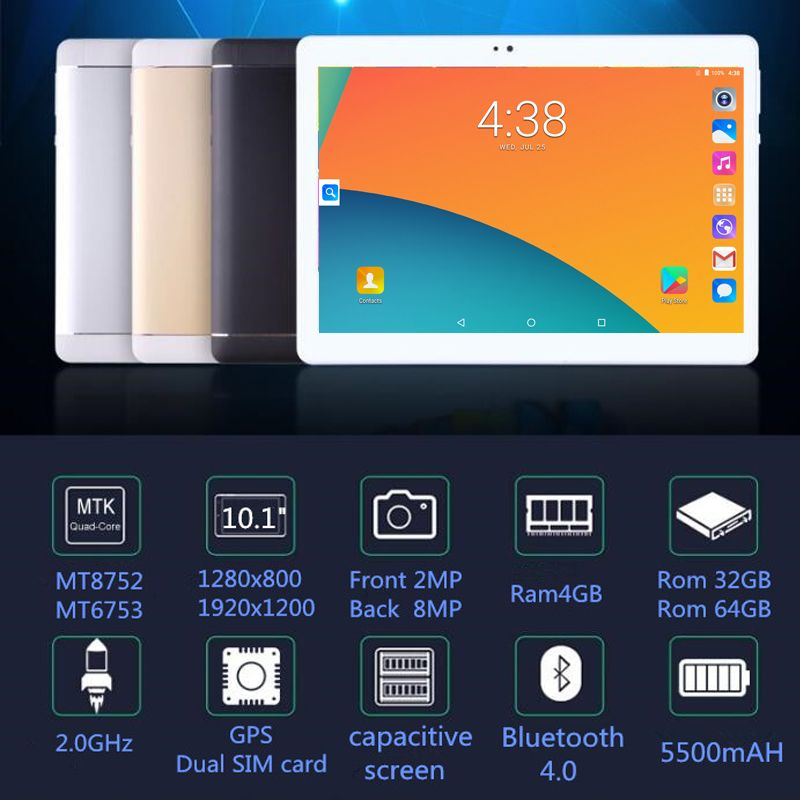 2019 NEW Computer 10.1 inch tablet PC Octa Core Android 8.0 4GB RAM 32GB 64GB ROM 8 Core 10 10.1 Resolution 1280x800