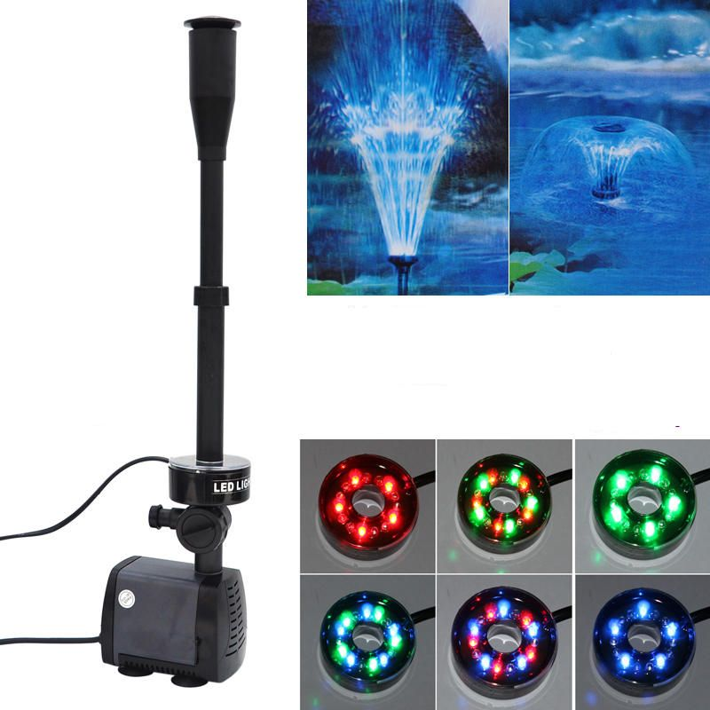 40w 2000l/h Aquarium Fish Pond Led Submersible Water Pump Garden Fountain Pump With Led Color Changing Fountain Maker