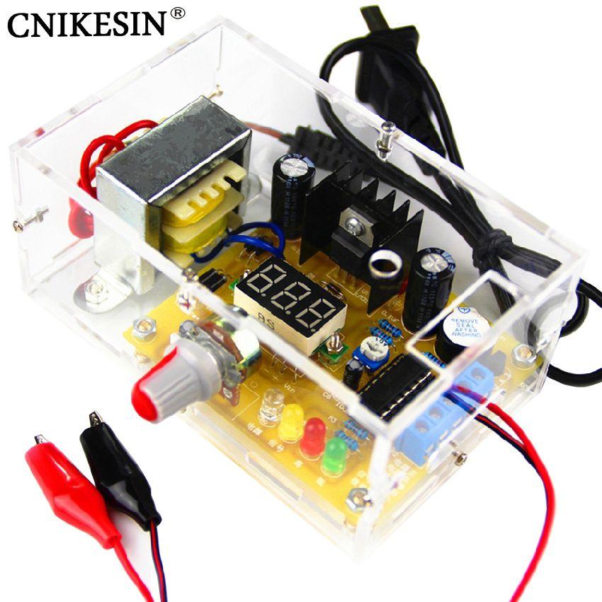 CNIKESIN DIY Kit LM317 Réglable Réglementé Tension 220 V à 1.25 V-12.5 V Step-down Alimentation Module PCB Conseil Électronique kits