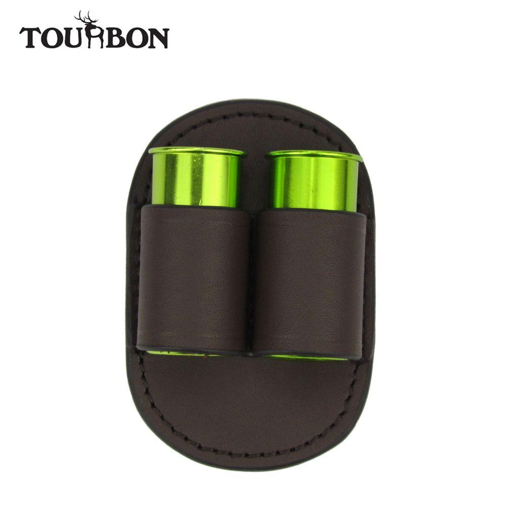 Tourbon Tactical Shotgun Ammo Shells Holder 12GA Leather Cartridges Carrier Bullet Pouch for Belt Hunting Gun Accessories