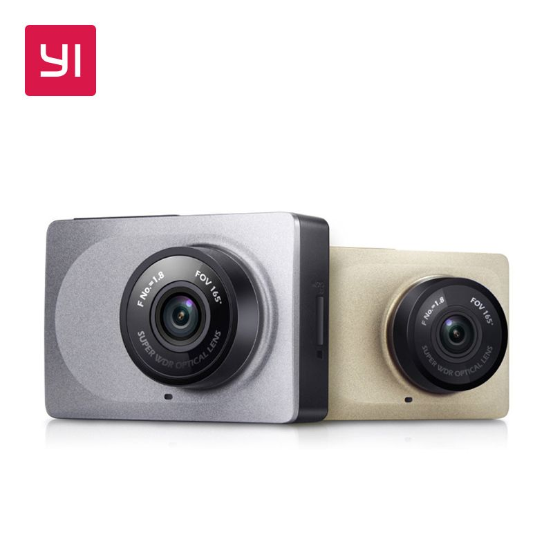 YI Dash <font><b>Camera</b></font> 2.7 Screen Full HD 1080P 60fps 165 degree Wide-Angle Car DVR Dash Cam with G-Sensor International Night Vision