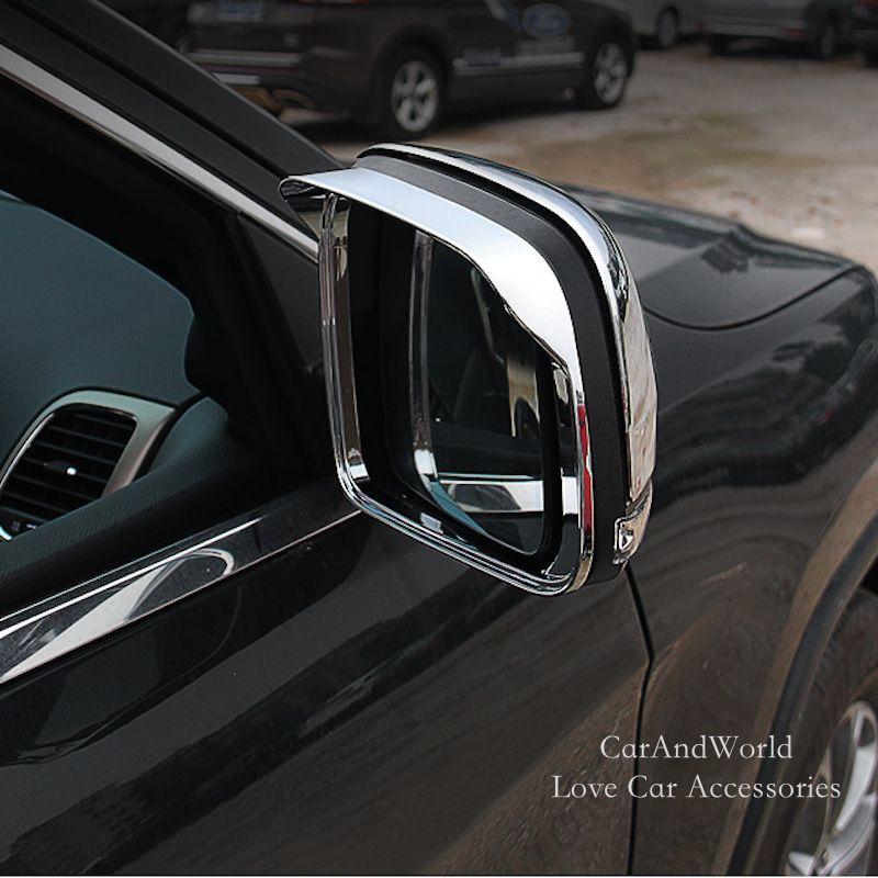 For 2011 2012 Jeep Grand Cherokee 2014 2015 2016 2017 Rear View Side Mirror Rain Visor Shade Shield Cover Trim Car Accessories