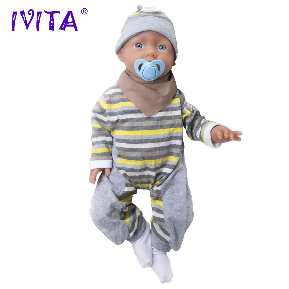 IVITA 20 zoll 3960g Silikon Reborn Babys Realistische Blau Augen Weiche Baby Silikon Puppen Lebensechte Reborn Silikon Puppen Spielzeug