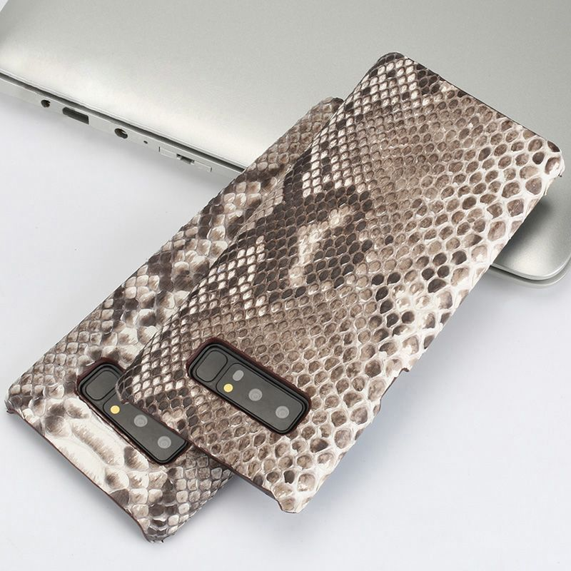 Genuine leather Phone case For Samsung S7 S8 S9 Plus Python skin texture Hard shell For A5 A7 A8 J3 J5 J7 2017 Note 8 back cover