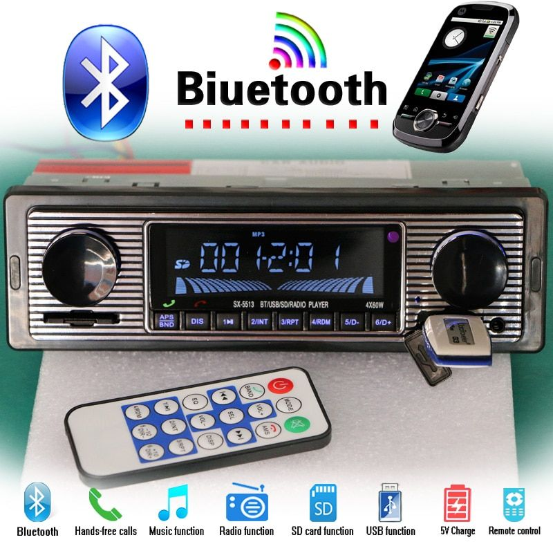 12V/24V autoradio Bluetooth Car Radio MP3 Player Stereo FM USB AUX Audio Auto Electronics oto teypleri radio para carro dab 1din